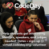 Virtual CodeDay Volunteer Recruiting Square